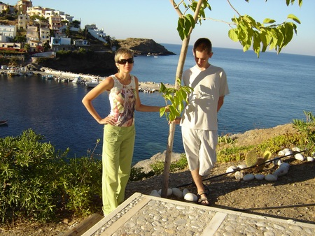 Греция, о.Крит, вид с обрыва