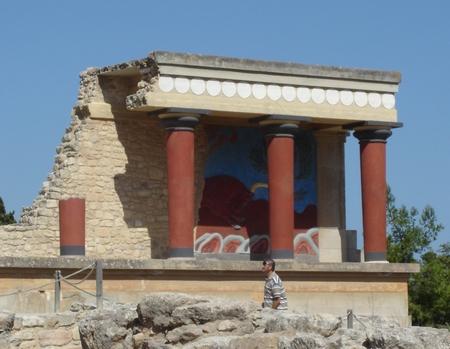 Греция, о.Крит, Кносский дворец (фрагмент)