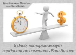 8 Дней, Которые Могут Кардинально Изменить Ваш Бизнес